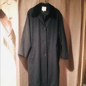 Kristen Blake Classics Black Wool Trench Coat Sz18